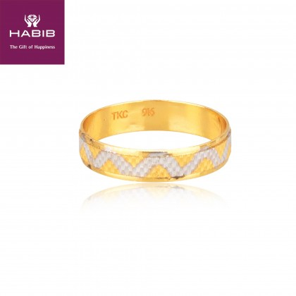 Yvaine Yellow and White Gold Ring, 916 Gold (2.06G) RN323E