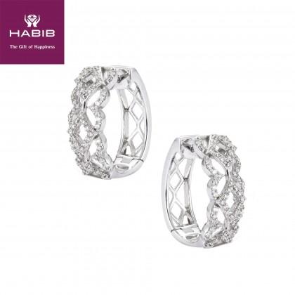 Candytuft Diamond Earrings in 750/18k White Gold 45382