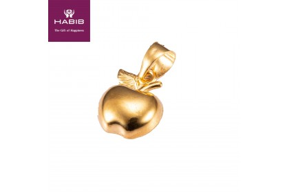 HABIB Apple Gold Pendant, 916 Gold (0.41G)
