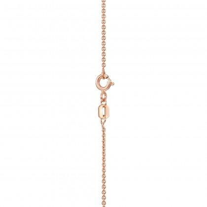 Corsiva-V Alphabet Diamond Necklace in 375/9K Rose Gold 55570(V)