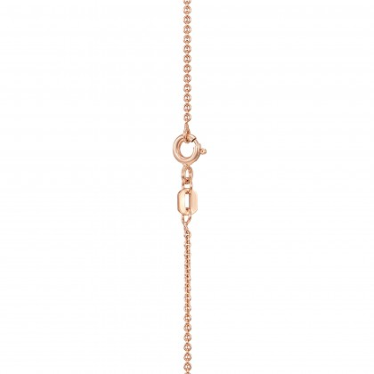 Corsiva-F Alphabet Diamond Necklace in 375/9K Rose Gold 55570(F)