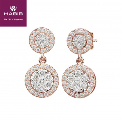 Adore Gwendolyn Diamond Earrings in 750/18K Rose Gold 25035(E)