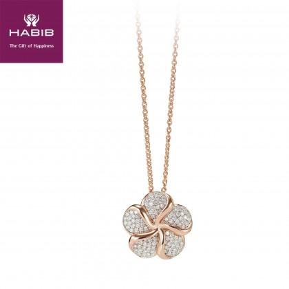 Amaranthus Diamond Necklace in750/18K rose gold 24993(N)
