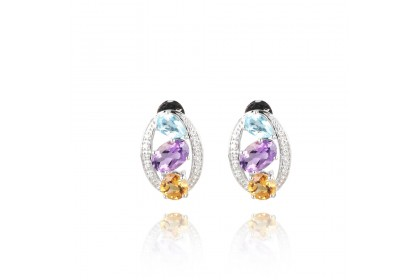 Kaleidoscope Coloured Stone Earrings