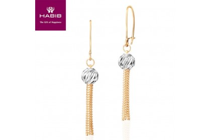 Chinesis White and Yellow Gold Earrings (3.46G)