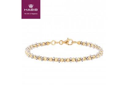 Oro Italia 916 Piccolo White and Yellow Gold Bangle (7.61G) GB8003-BI