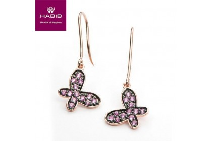 Madame Butterfly Pink Sapphire Earrings