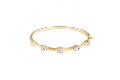 Adore Moroccan Yellow Gold Diamond Bangle
