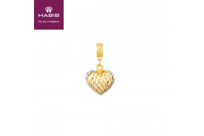 Salsabila White and Yellow Gold Charm (2.35G)