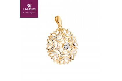 HABIB Aphrodite White and Yellow Gold Pendant, 916 Gold (7.28G)
