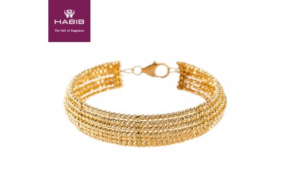 Oro Italia 916 Stella Yellow Gold Bangle (26.39G) GB8159