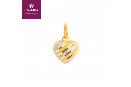 Sandy Love White and Yellow Gold Pendant, 916 Gold (0.85G)