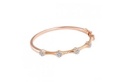 Adore Moroccan Rose Gold Diamond Bangle