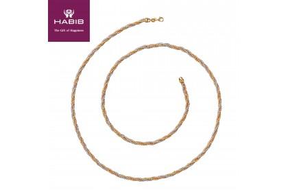 Oro Italia 916 White, Yellow and Rose Gold Necklace (52.16G) GC24890120-TI