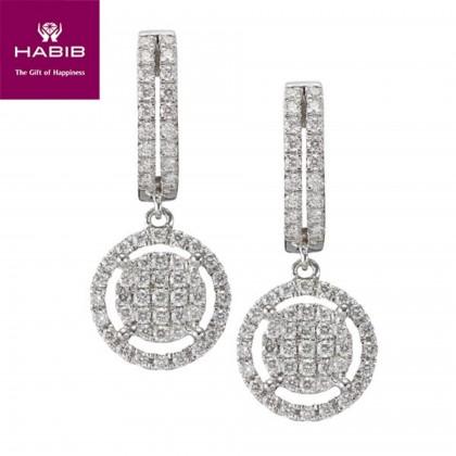 La Orchila Diamond Earrings in 750/18K White Gold 45565