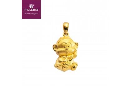 Macaco 999/24K Gold Pendant (3.99G)