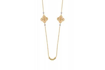 Oro Italia 916 Milano White, Yellow and Rose Gold Necklace (16.27G) GC25290920-TI