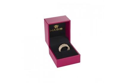 Oro Italia 916 Piccolo White and Yellow Gold Ring (5.45G) GR4010-BI