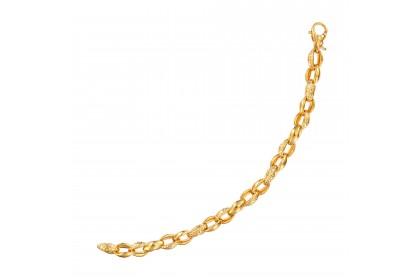 Oro Italia 916 Emma Yellow Gold Bracelet (22.16G) GW36260220