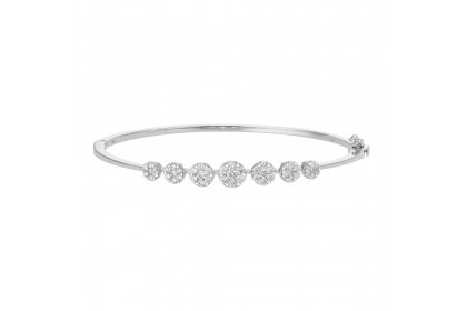 Adore Anna Maria White Gold Diamond Bangle 67867-WG