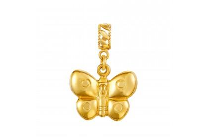 Oro Italia 916 White and Yellow Gold Charm (1.35G) GCM90181020-BI