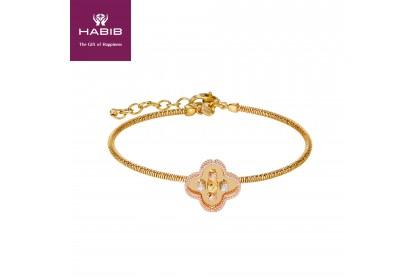 Oro Italia 916 Milano White, Yellow and Rose Gold Bangle (8.36G) GB86920820-TI