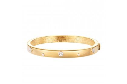 Oro Italia 916 Luna White and Yellow Gold Bangle (21.12G) GB86310220(6Y)-BI