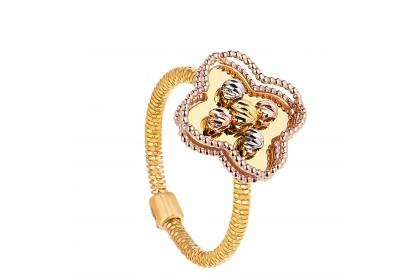Oro Italia 916 Milano White, Yellow and Rose Gold Ring (4.32G) GR44230820-TI