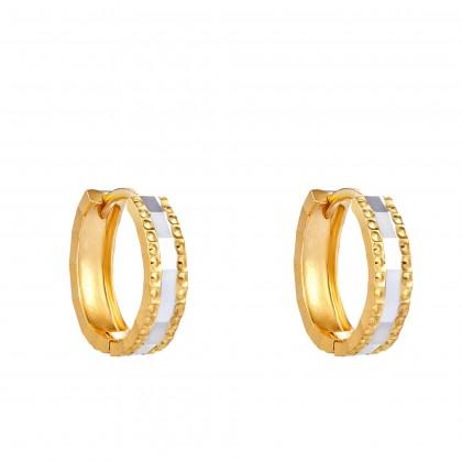 Oro Italia 916 White and Yellow Gold Earrings (1.70G) GE71240520-BI