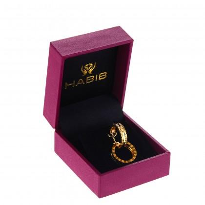Oro Italia 916 Yellow Gold Earrings (3.11G) GE7094