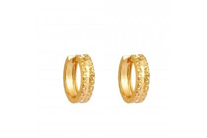 Oro Italia 916 Yellow Gold Earrings (3.03G) GE7094