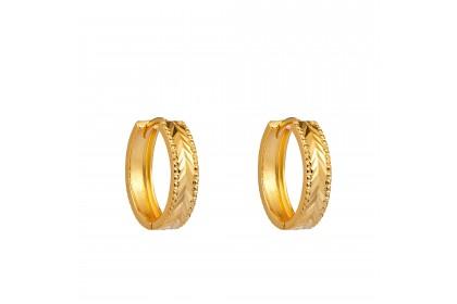 Oro Italia 916 Yellow Gold Earrings (3.01G) GE7102