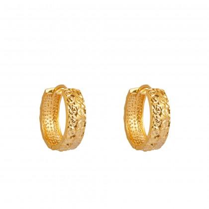 Oro Italia 916 Yellow Gold Earrings (3.21G) GE7095