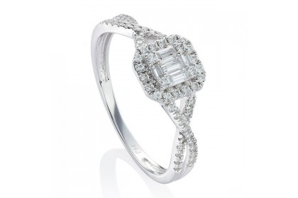 Fire On Ice Sparkle White Diamond Ring