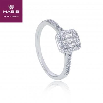 Fire On Ice White Diamond Ring in 375/9K White Gold 24945
