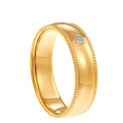 Oro Italia 916 White and Yellow Gold Ring (3.74G) GR44611220-BI