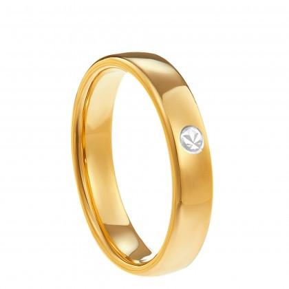 Oro Italia 916 White and Yellow Gold Ring (3.35G) GR4242-BI