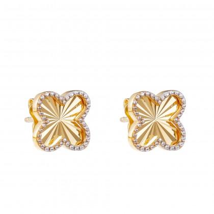 Oro Italia 916 White and Yellow Gold Earrings (2.29G) GE71750121-BI