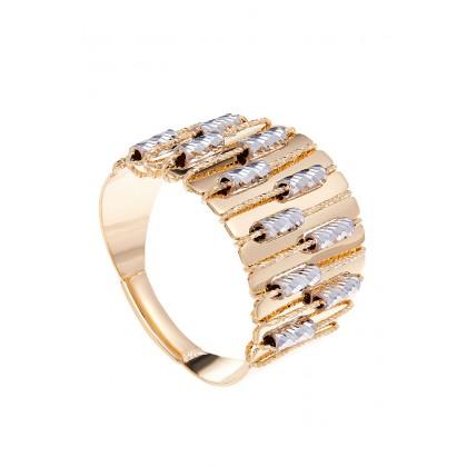 Oro Italia 916 Sicilia White and Yellow Gold Ring (5.84G) GR44130220-BI