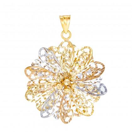Oro Italia 916 White, Yellow and Rose Gold Pendant (5.80G) GP50900221-TI