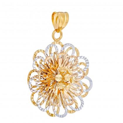 Oro Italia 916 White, Yellow and Rose Gold Pendant (5.29G) GP50910221-TI
