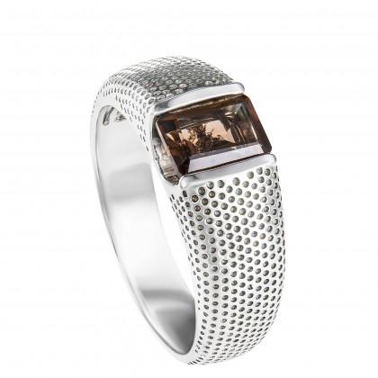 Quartz Gemstone Men's Ring in 925/Palladium A0478(PLD)