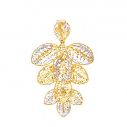 Daun Ketum White and Yellow Gold Pendant, 916 Gold (9.50G) EGGP20530421