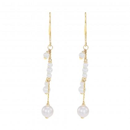 Aruna Pearl Earrings in 375/9K Yellow Gold ER109341