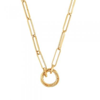 Oro Italia 916 Graffetta Yellow Gold Necklace (11.89G) GC25770321