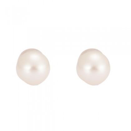 Heart of Sea Pearl Earrings in 375/9K Yellow Gold BE61564