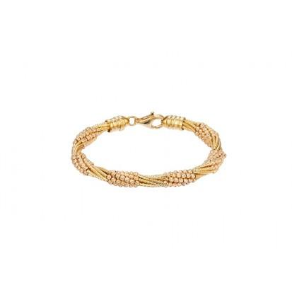 Oro Italia 916 Cavo Yellow and Rose Gold Bangle (26.33G) GB8489(R)-BI