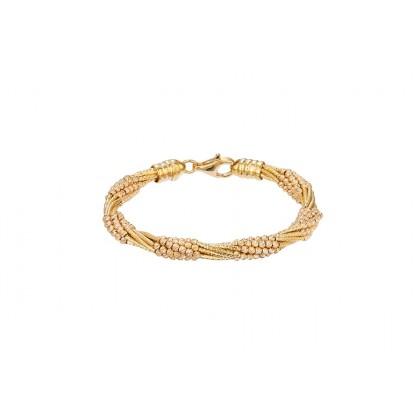 Oro Italia 916 Cavo Yellow and Rose Gold Bangle (27.59G) GB8489(R)-BI