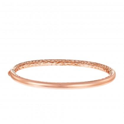 Oro Italia 916 Luna Rose Gold Bangle (13.76G) GB87131220(4R)