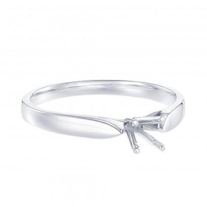White Gold Ring Casing, 750/18K Gold (0.70CT) 00876-CR